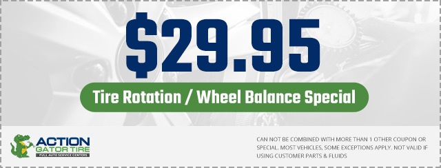 $29.95 Tire Rotation/Wheel Balance Coupon