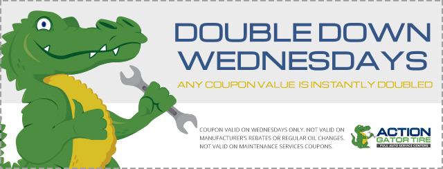action gator tire double down wednesdays coupon