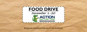 Food Drive November 1 - November 20