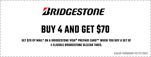 Bridgestone Winter Promo 2017 Coupon