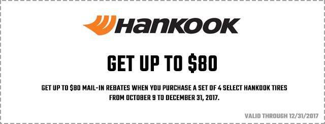 Hankook 2017 Great Winter Rebate Coupon