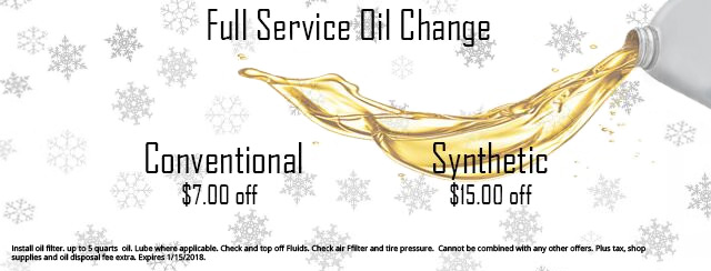 Full Service Oil Change Coupon