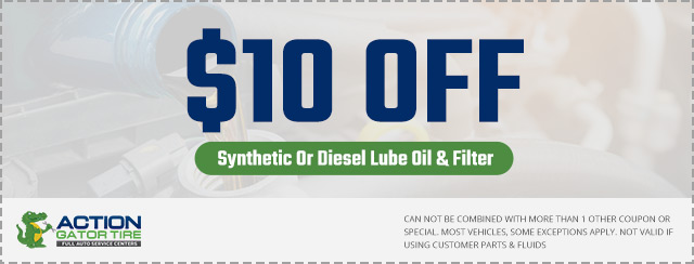 $10 Off Synthetic Oil Change Coupon