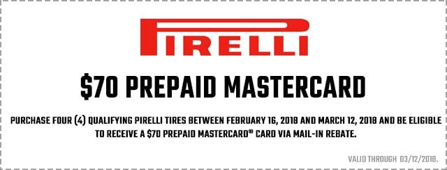 Pirelli $70 Mastercard Card Coupon