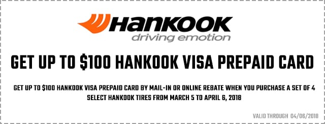 Hankook $100 Visa Prepaid Card Coupon