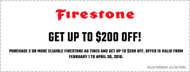 Firestone Farm Hard Rewards 2018 Coupon