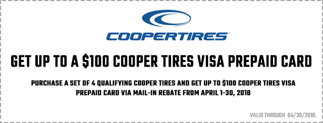 Cooper Tire Spring Promotion Coupon