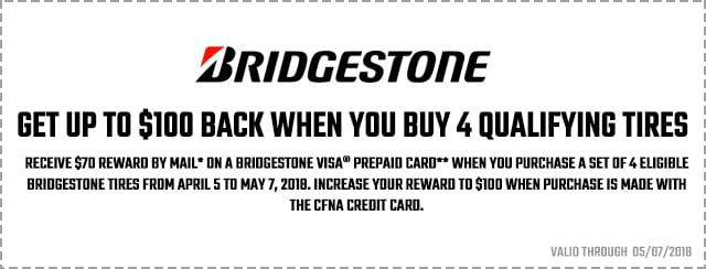 Bridgestone Spring Promotion 2018 Coupon