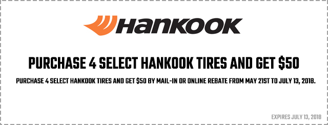 Get $50 when you buy 4 qualifying tires Coupon