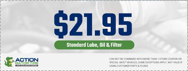 21.95 Standard Oil Change