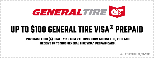 General Tire Promotion 2018 Coupon