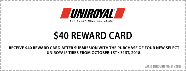 $40 Reward Card Coupon