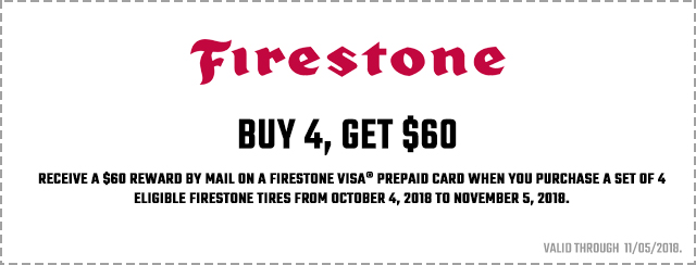 Firestone Fall Promotion 2018 Coupon