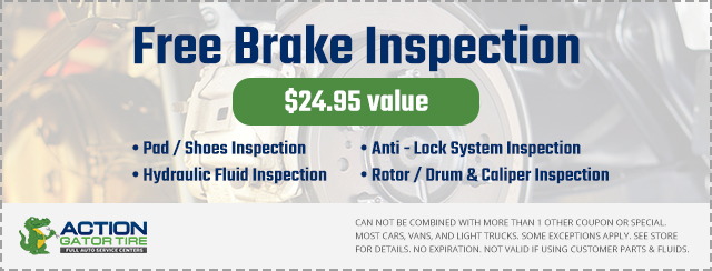 Free Brake Inspection – $24.95 Value Coupon