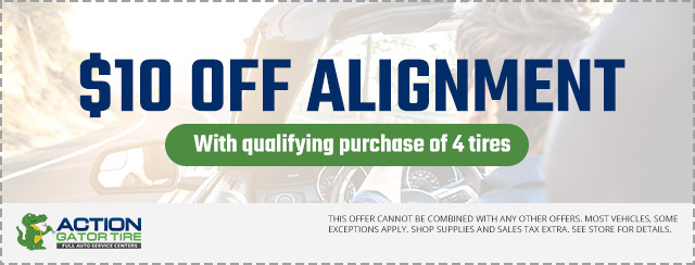 $10 OFF Alignment with qualifying purchase of 4 tires Coupon