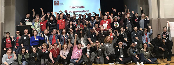 DSAers at Knoxville pre-convention conference