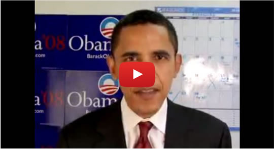 Watch Barack Obama respond directly to DFA members' petition calling for an end to the War in Iraq.