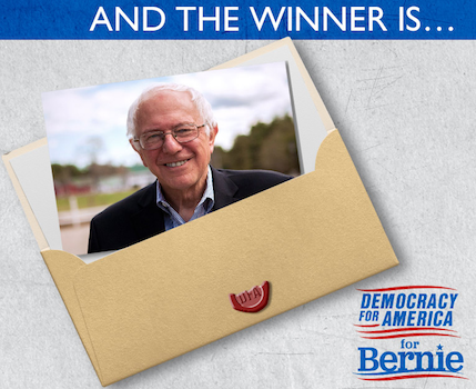 After receiving 87.9% of member vote, Sanders captures first Democratic presidential primary endorsement in progressive PAC's history.