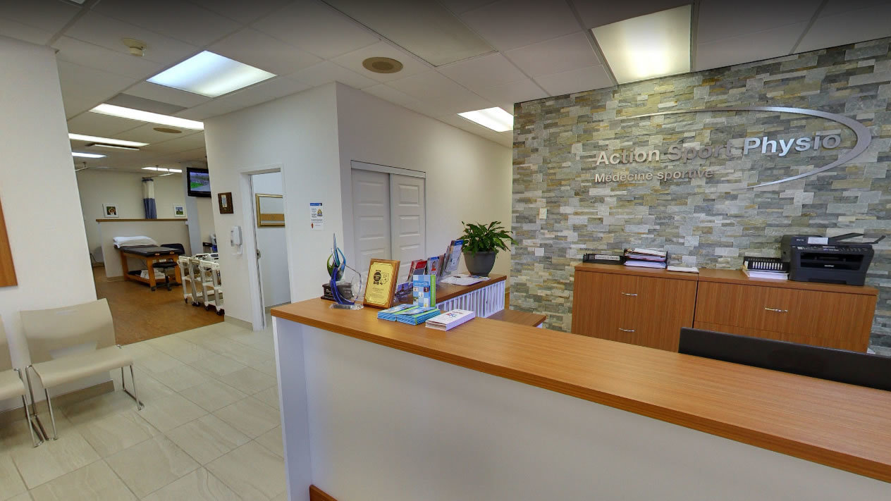 Picture of the Valleyfield Action Sports Physiotherapy Clinic. You can book online or call us at 450 373-0111. We offer physiotherapy, kinesiology, osteopathy and many more professional services.