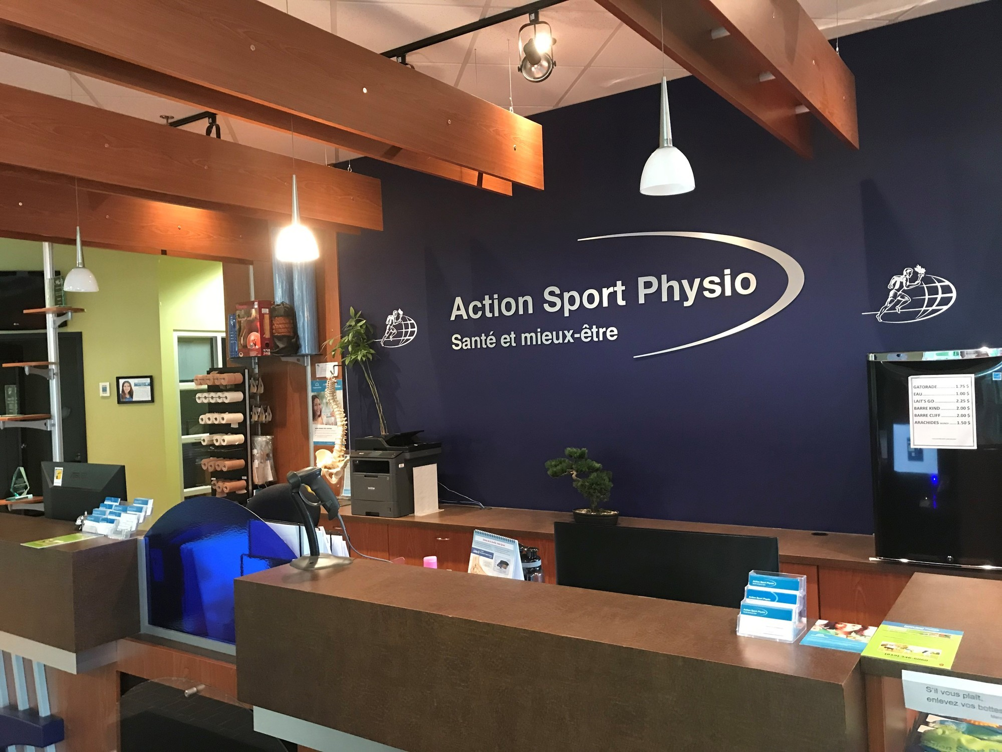 Picture of the Sherbrooke Action Sports Physiotherapy Clinic. You can book online or call us at 819 346-6060. We offer physiotherapy, kinesiology, osteopathy and many more professional services.