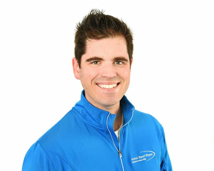 Picture of Maxime Besner Physiotherapist at the Action Sport Physio Vaudreuil-Dorion clinic