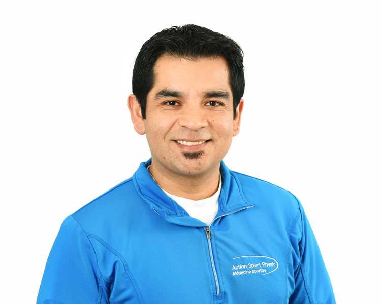 Picture of Cristian Abondano Espinosa Physiotherapist at the Action Sport Physio Valleyfield clinic