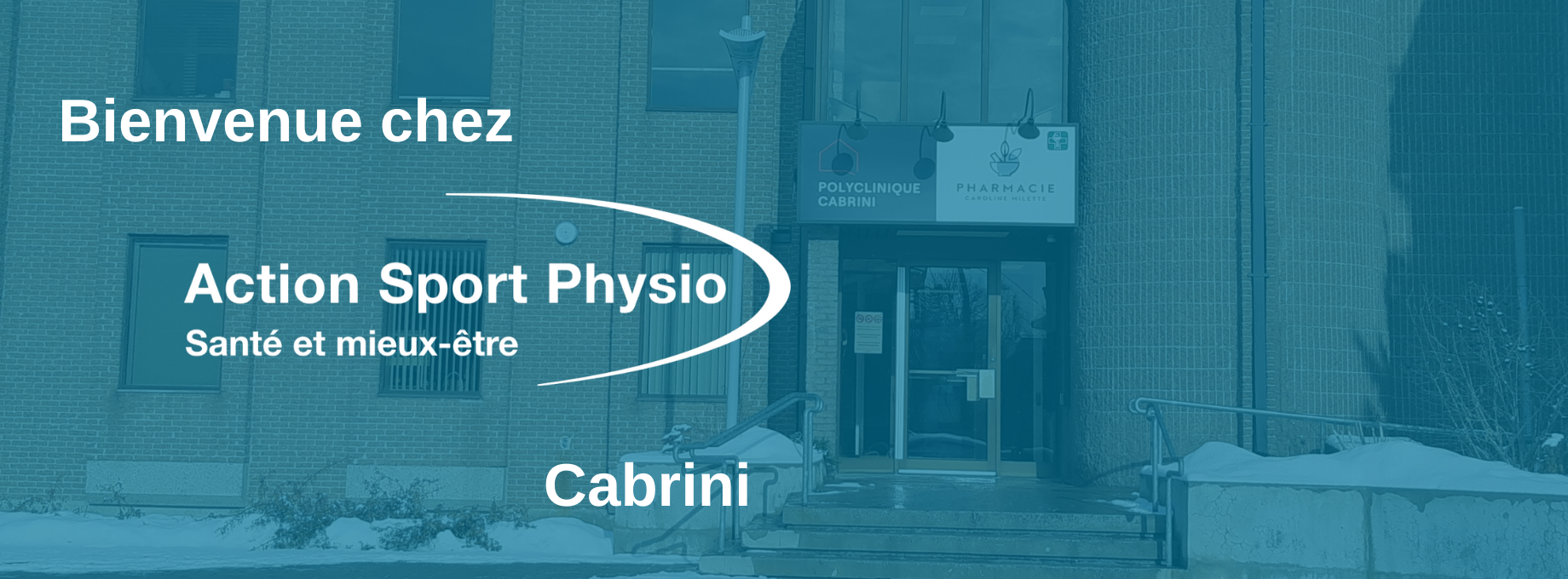 Picture of the Cabrini Action Sports Physiotherapy Clinic. You can book online or call us at 514 259-3791. We offer physiotherapy, kinesiology, osteopathy and many more professional services.
