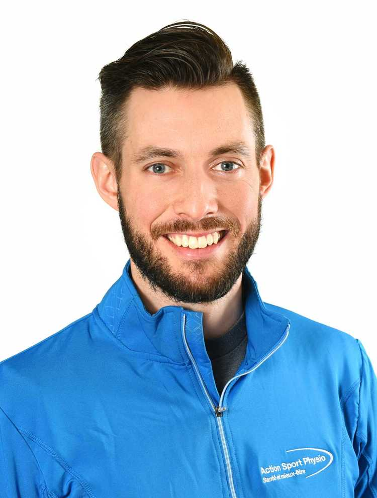Picture of Julien Bernier Physiotherapist at the Action Sport Physio Saint-Bruno clinic