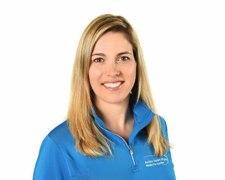 Picture of Elyse Roberge Physiotherapist at the Action Sports Physio Boucherville clinic
