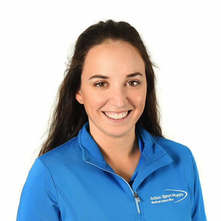 Picture of Valérie Bilodeau Physiotherapist at the Action Sport Physio Mont-Saint-Hilaire clinic
