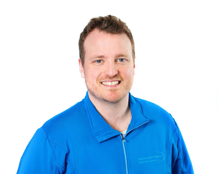 Picture of Xavier Tremblay Physiotherapist at the Action Sports Physio Mont-Saint-Hilaire clinic