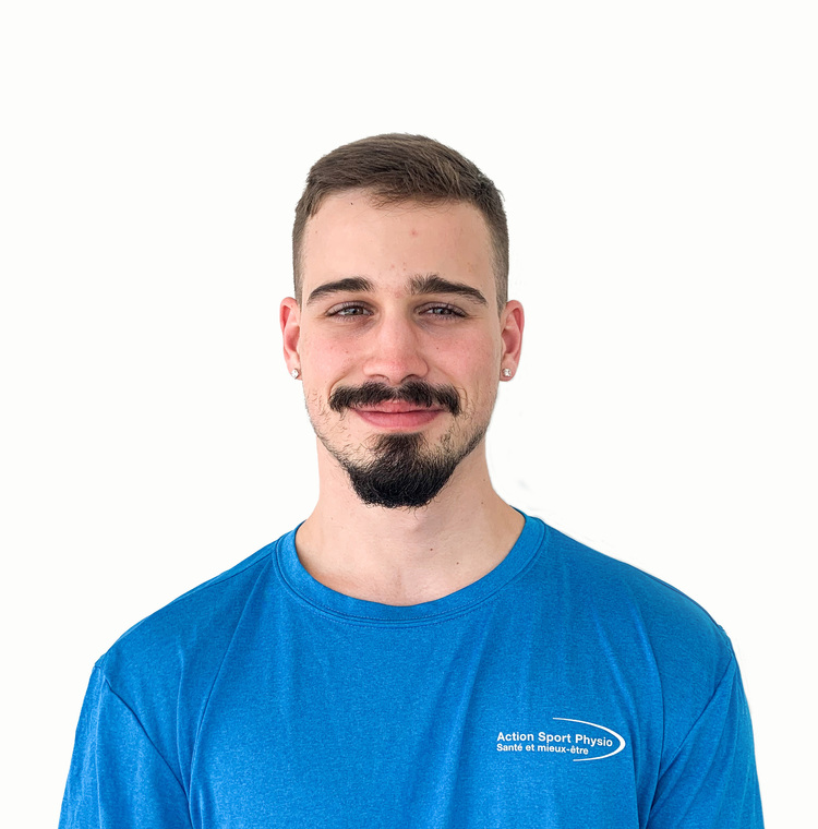 Picture of Tristan Bourgie Assistant Therapist at the Action Sport Physio Vaudreuil-Dorion clinic