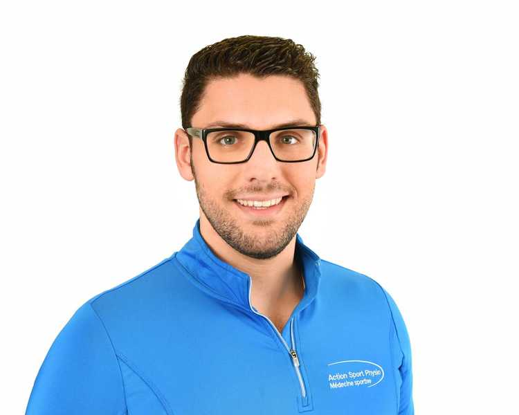 Picture of Anthony Teoli Physiotherapist at the Action Sports Physio Rosemère clinic