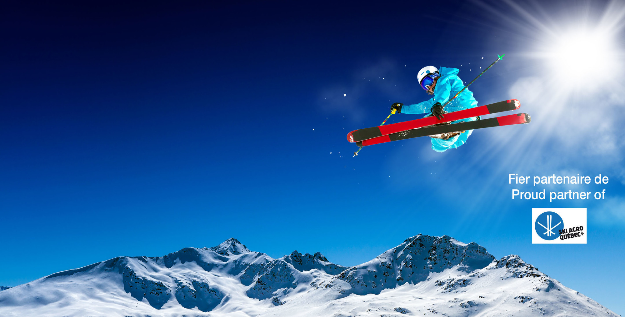 Picture of a freestyle skier