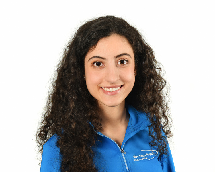 Picture of Alessia DiCarlo Physiotherapist at the Action Sports Physio Rivière-des-Prairies clinic