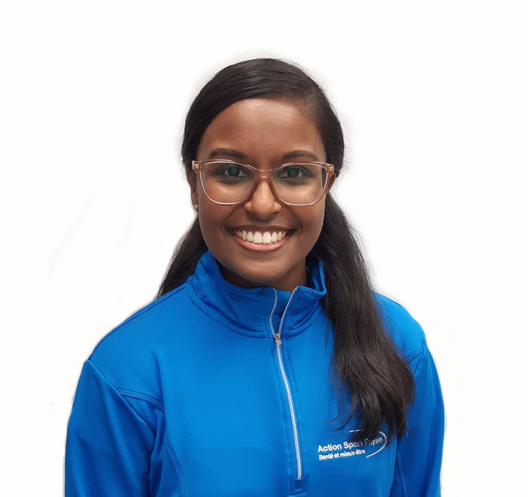 Picture of Koushiya Sellathurai Receptionist at the Action Sports Physio Laval West (Ste-Dorothée) clinic