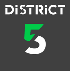 Logo de District 5 - Soccer à 5  - Partenaire de la clinique Action Sport Physio de Rosemont