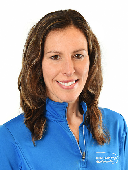 Picture of Andrea Dewar Physiotherapist at the Action Sports Physio Vaudreuil-Dorion clinic