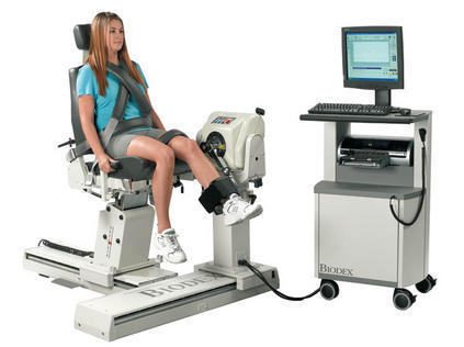 Picture of the Isokinetic training Biodex/Cybex's service