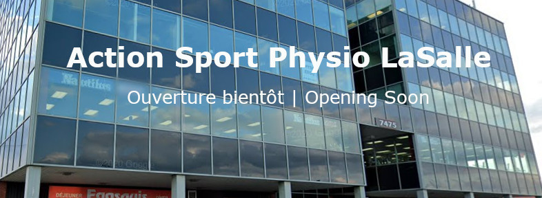 Photo de la clinique de physiothérapie Action Sport Physio LaSalle