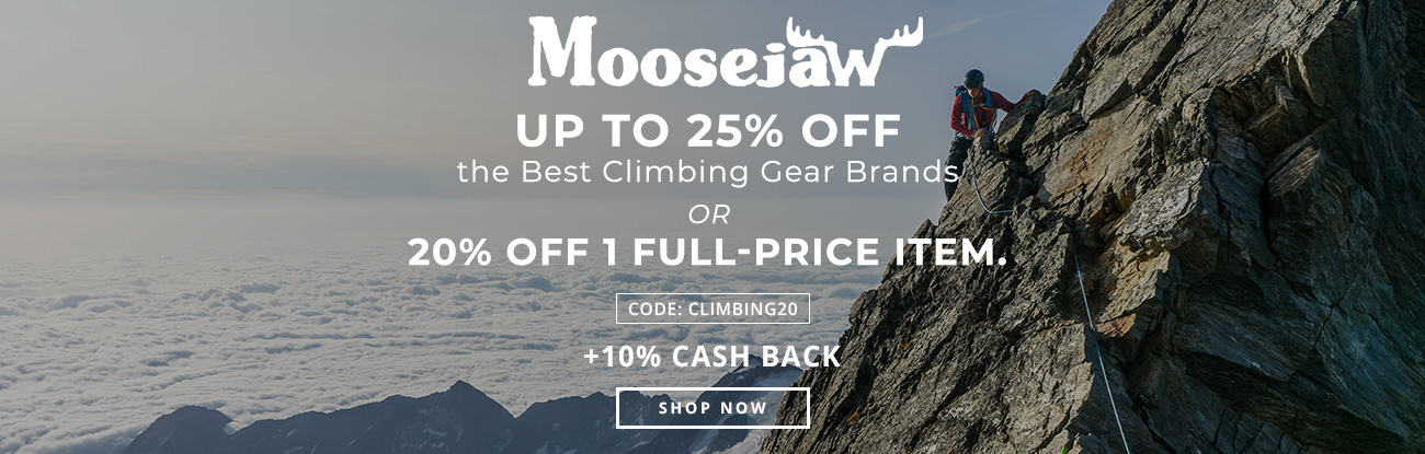 Up to 25% off the Best Climbing Gear Brands