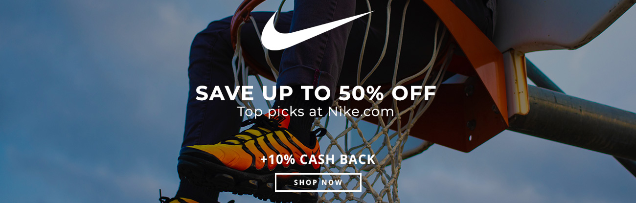 Save up to 50% off top picks at Nike.com