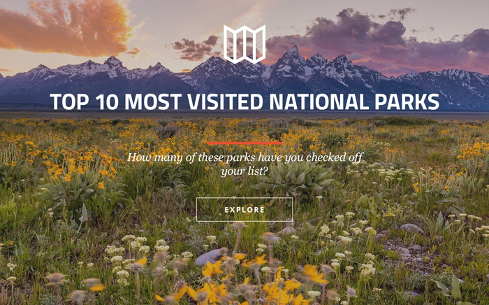 Top 10 Most Visited National Parks