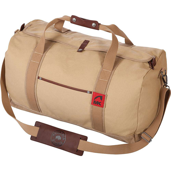 Mountain khaki canvas duffle bag main
