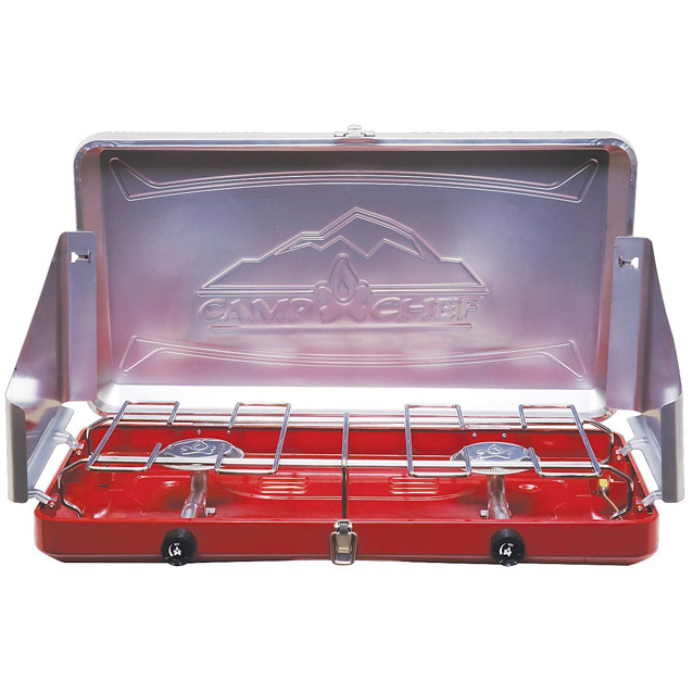 Camp chef mountain series sierra stove 2 burner in red p 9871f 01 1500.2