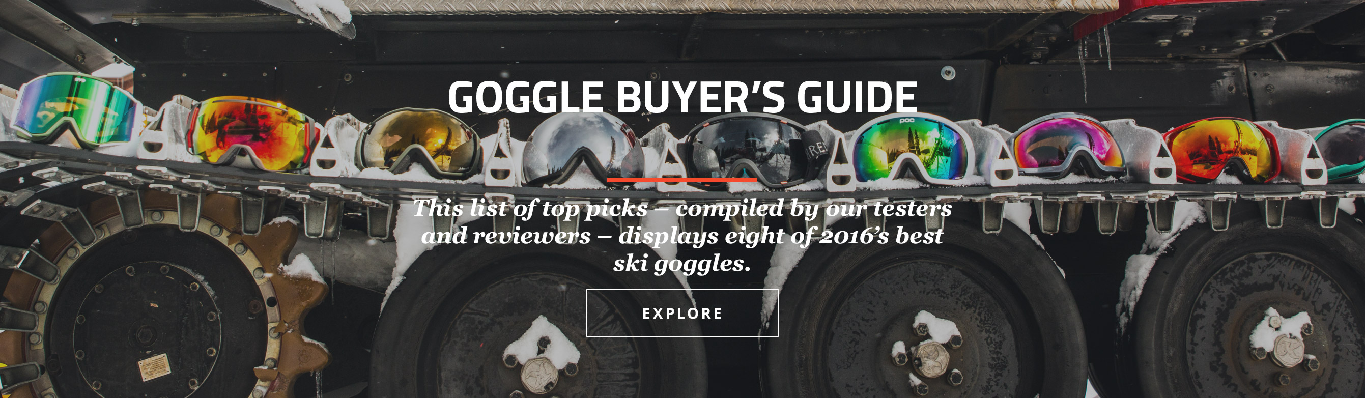 Goggle Buyer's Guide