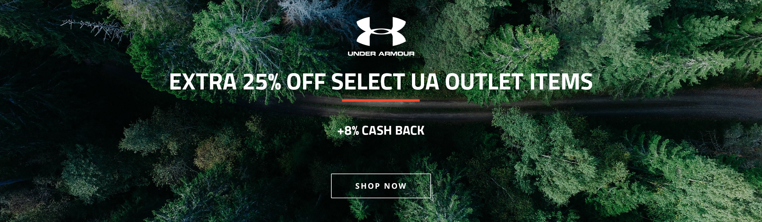 Under Armour (8%) Extra 25% Off Select UA Outlet Items