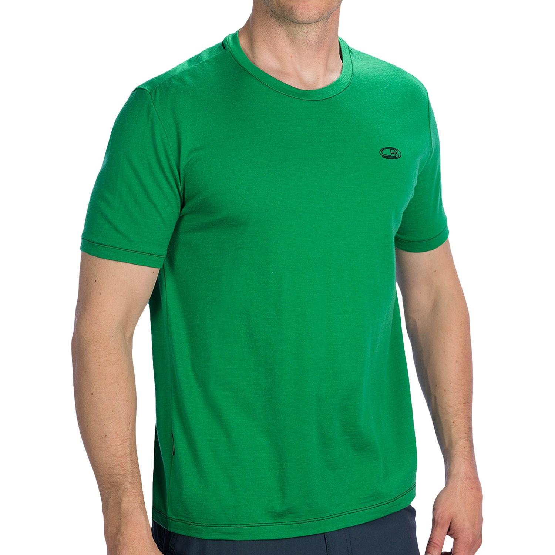Icebreaker tech lite shirt upf 30 plus  merino wool short sleeve for men in field~p~8234x 03~1500.2