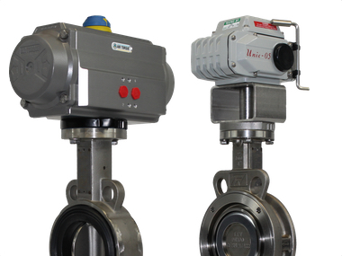 Actuated Stainless Steel Wafer Pattern Butterfly Valves.jpg