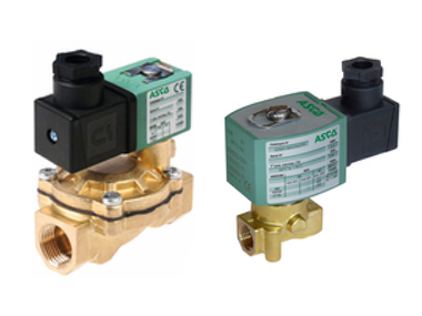 Brass 2-2 Normally Closed Asco Solenoid Valves.jpg
